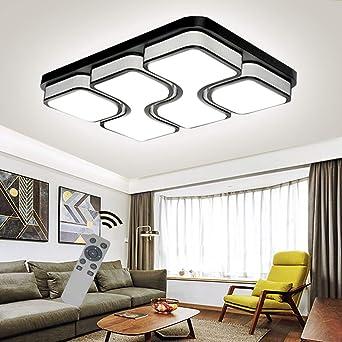 LED Modern Deckenlampe Deckenleuchte Quadrat Energiespar Wohnzimmer  Schlafzimmer Korridor Acryl-Schirm Rahmen Flur Lampe Schlafzimmer Küche ...