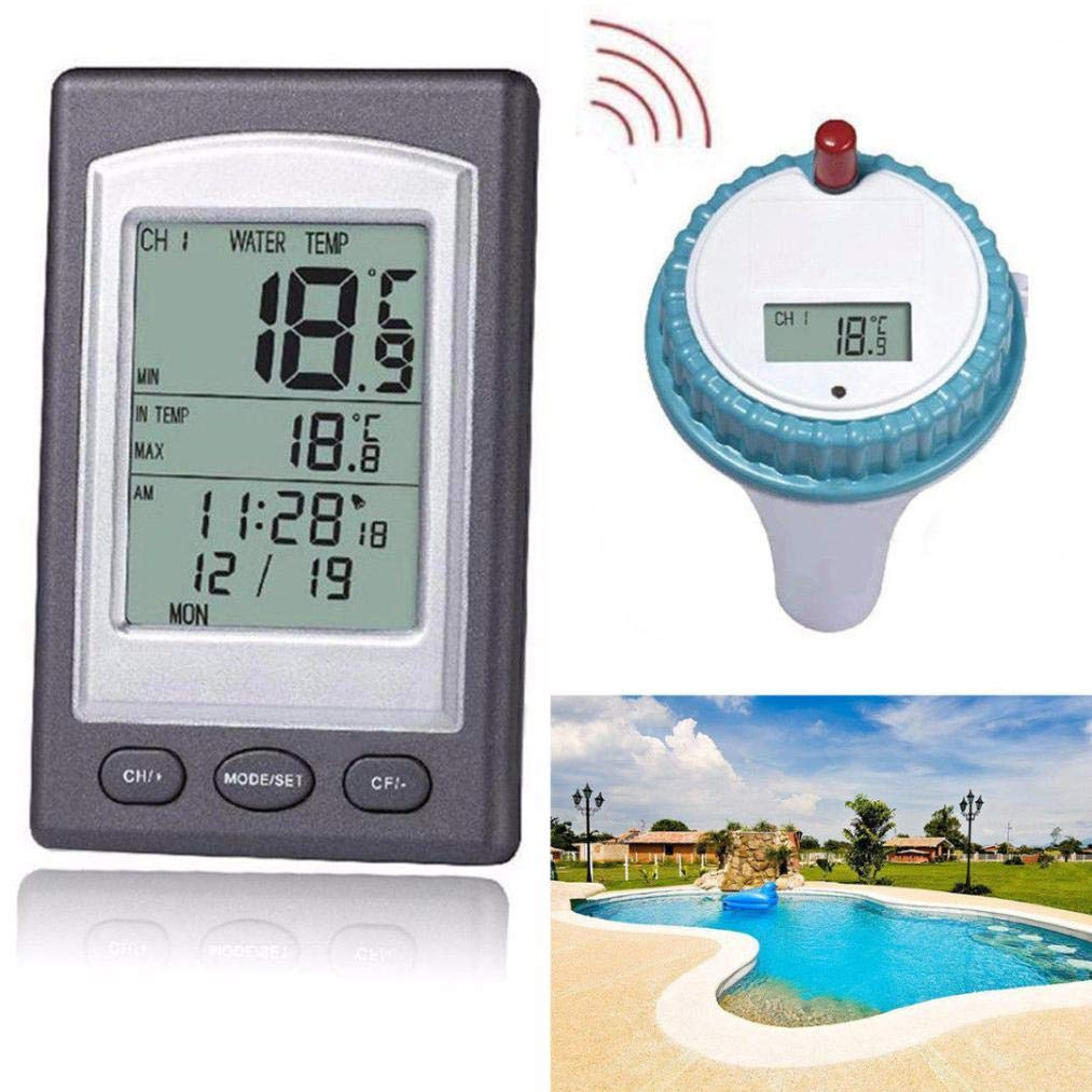 weijij Wireless Remote Digital Floating Swimming Thermometer Pool Waterproof Hot Tub Pond Thermometer