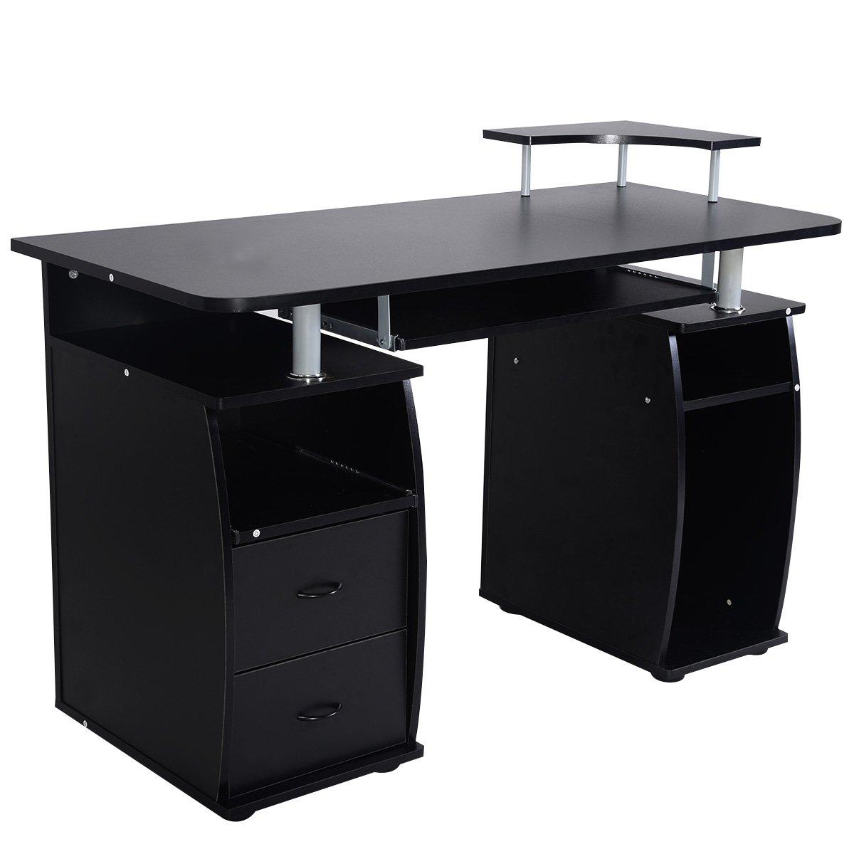 Amazon.com: Tangkula Computer Desk Work Station Home Office ...