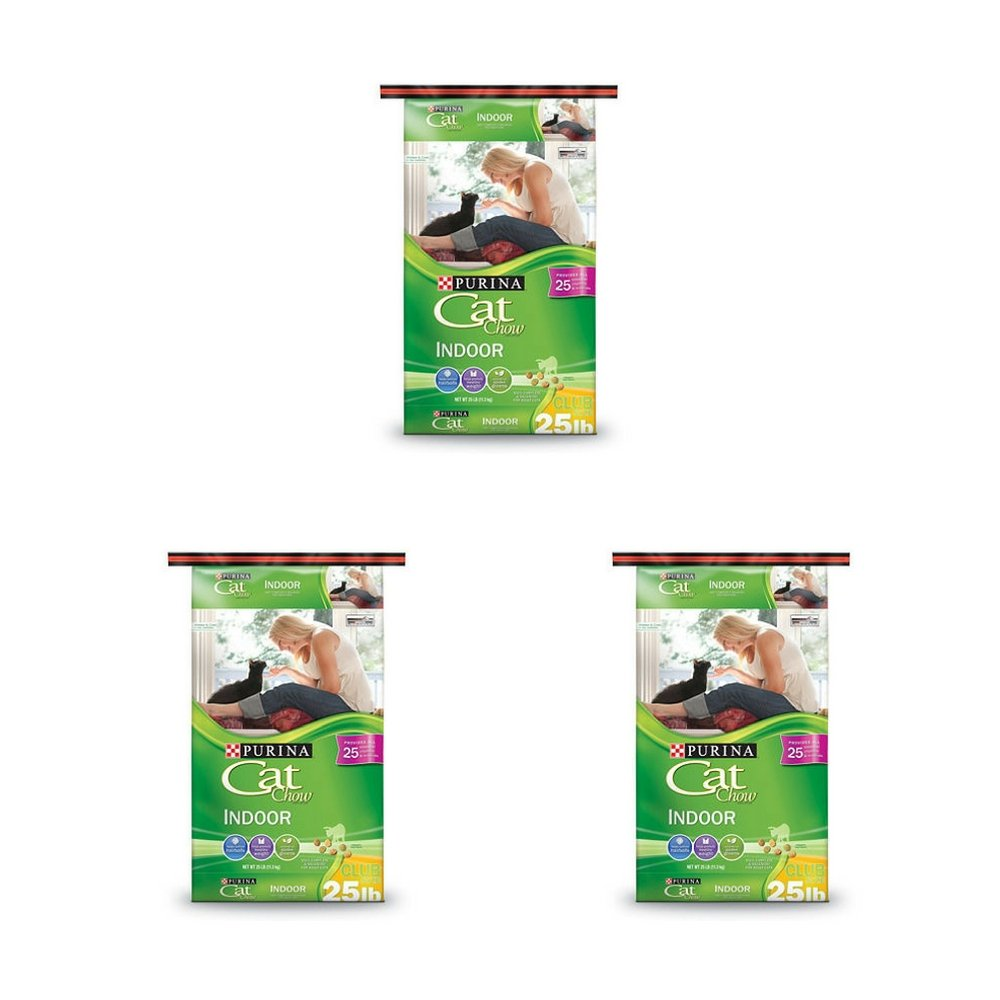 3 Pack Purina Cat Chow, Indoor (25 lbs.) 3 pack