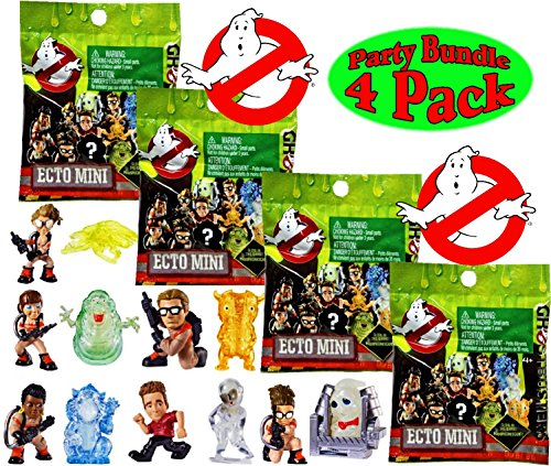 Ghostbusters Ecto Minis Basic Figure Blind Bags Party Bundle - 4 Pack (Assorted) -