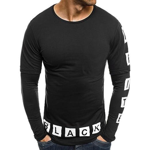 Camiseta Manga Larga Hombre Camiseta Manga Larga etiqueta Camisas ...
