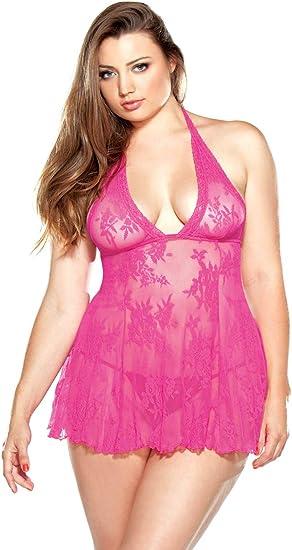 Plus Size Stretch Lace Chemise