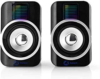 Nedis Gaming Speakers 2.0 of 30W for PC and Laptops with RGB, USB and 3.5mm, Black