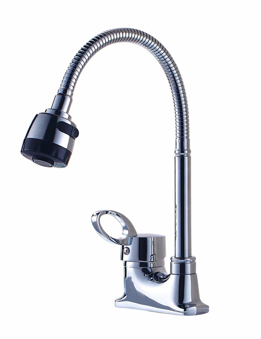 LHbox Basin Mixer Tap Bathroom Sink Faucet The fine copper faucet hot and cold Two holes basin faucet telescopic single handle three hole 000 to tap the two dual-head hose Faucet