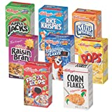 Kellogg's Cereal Variety Pack, Single Serve Boxes (Pack of 72)
