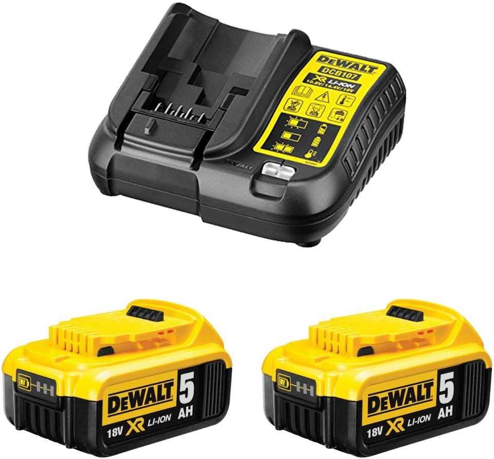 DeWALT Power Set 2 x 18V 5,0 Ah + DCB107