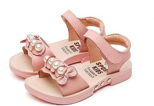 Baviue Floral Outdoor Leather Girls Sandals for Kids Sandles
