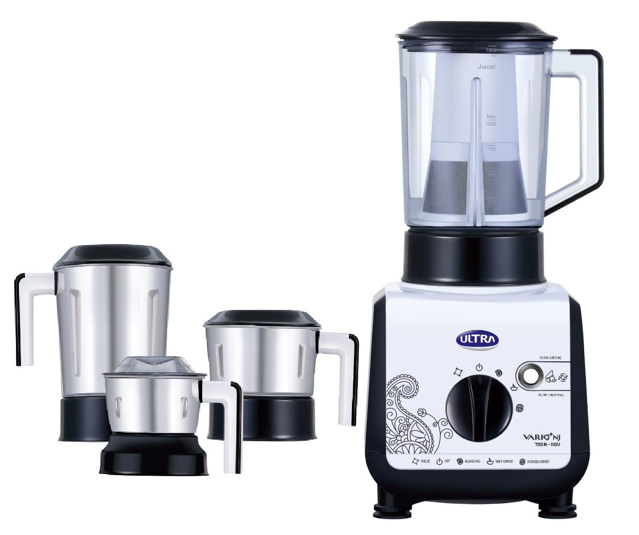 Ultra Vario+ Mixer Grinder with Electronic Speed Sensor, 110 Volts