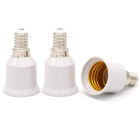 E14 a E27 - Adaptador de casquillo para bombilla halógena LED Edison (casquillo E14 a
