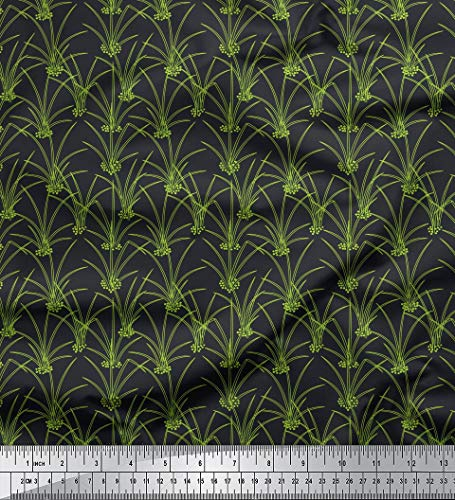 - Soimoi Gray Poly Crepe Fabric Soil & Grass Clip Art Print Fabric by Yard 42 Inch Wide