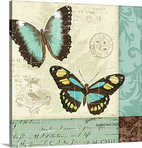 Canvas on Demand Premium Thick-Wrap Canvas Wall Art Print entitled Butterfly Patchwork II (Butterfly Patchwork)