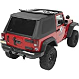 Bestop 56822-35 Black Diamond Trektop NX Complete Frameless Replacement Soft Top with Sunrider Sunroof Feature