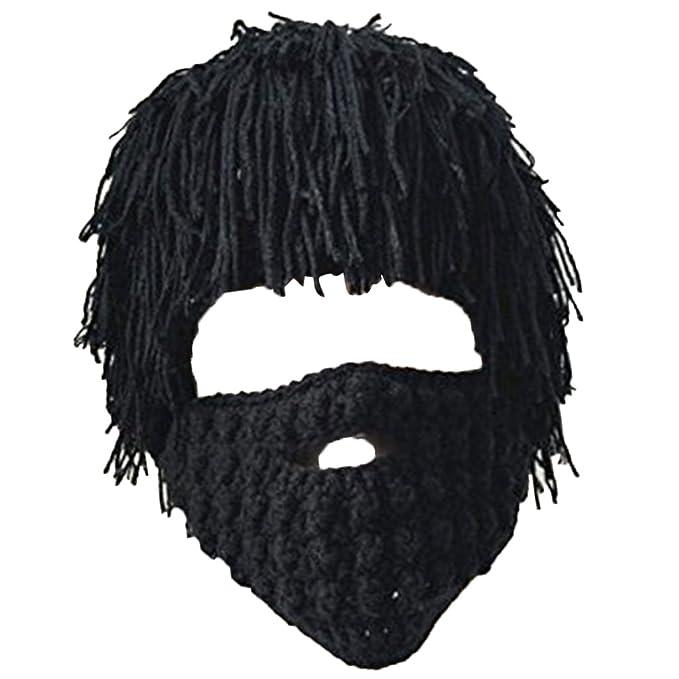 Homyl Strickmütze Bartmütze Beanie Häkeln Wollmütze Windschutz Mütze