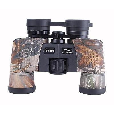 TTYY Jumelles 8x40 Portable et imperméable à l'eau pour l'observation des oiseaux Safari Visites Escalade Randonnée Chasse Événements sportifs Entièrement enduit Lens