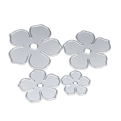 ZTY66 Silver Metal Cutting Dies for DIY Scrapbooking Embossing Album Paper Card Craft Stencil 3PCS Flying-cloud
