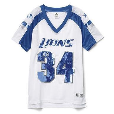 9494905a Victoria's Secret PINK Detroit Lions Bling Jersey T-shirt Medium ...