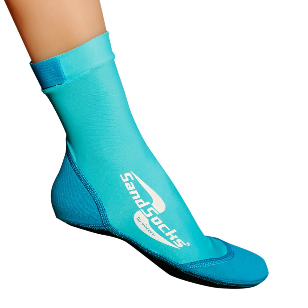 Sand Socks for Soccer, Volleyball, Snorkeling (Youth/Adult) XX-Small Marine Blue