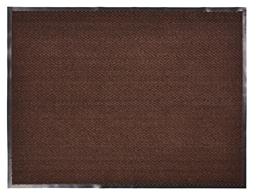 RugStylesOnline Entry Mat Doormat Entrance Mat and Hallway Runner Entry Collection Brown Black Color Slip Skid Resistant PVC Backing Anti Bacterial (Brown-Black, 3' x 5') by RugStylesOnline