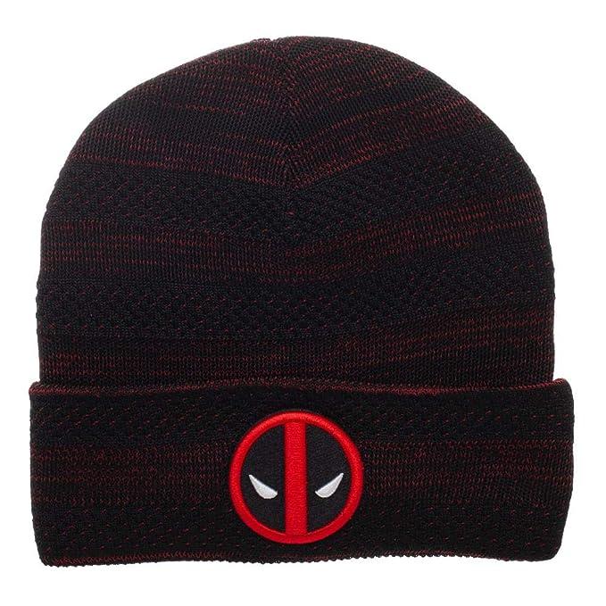 dc46a4cbce4 Amazon.com  Deadpool Beanie Marvel Hat Deadpool Knit Hat Marvel ...