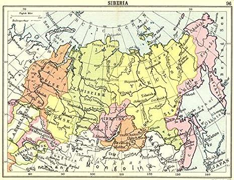 Cartina Russia Siberia.Russia Siberia Small Mappa 1912 Old Map Mappa Antica Vintage Map Russia Mappe Amazon It Casa E Cucina