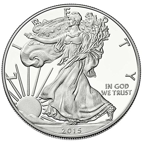 (2015 American Silver Eagle .999 Fine Silver Dollar Uncirculated US Mint with Our Certificate of Authenticity)