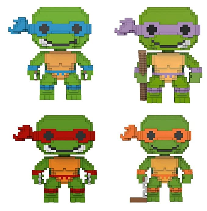 Funko POP! Teenage Mutant Ninja Turtles: 8-Bit Leonardo + 8 ...