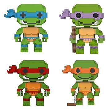 Funko POP! Teenage Mutant Ninja Turtles: 8-Bit Leonardo + 8 ...