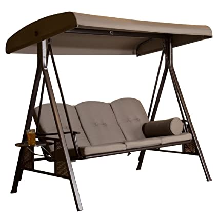 Amazon Com Abba Patio 3 Seat Outdoor Canopy Porch Swing Hammock