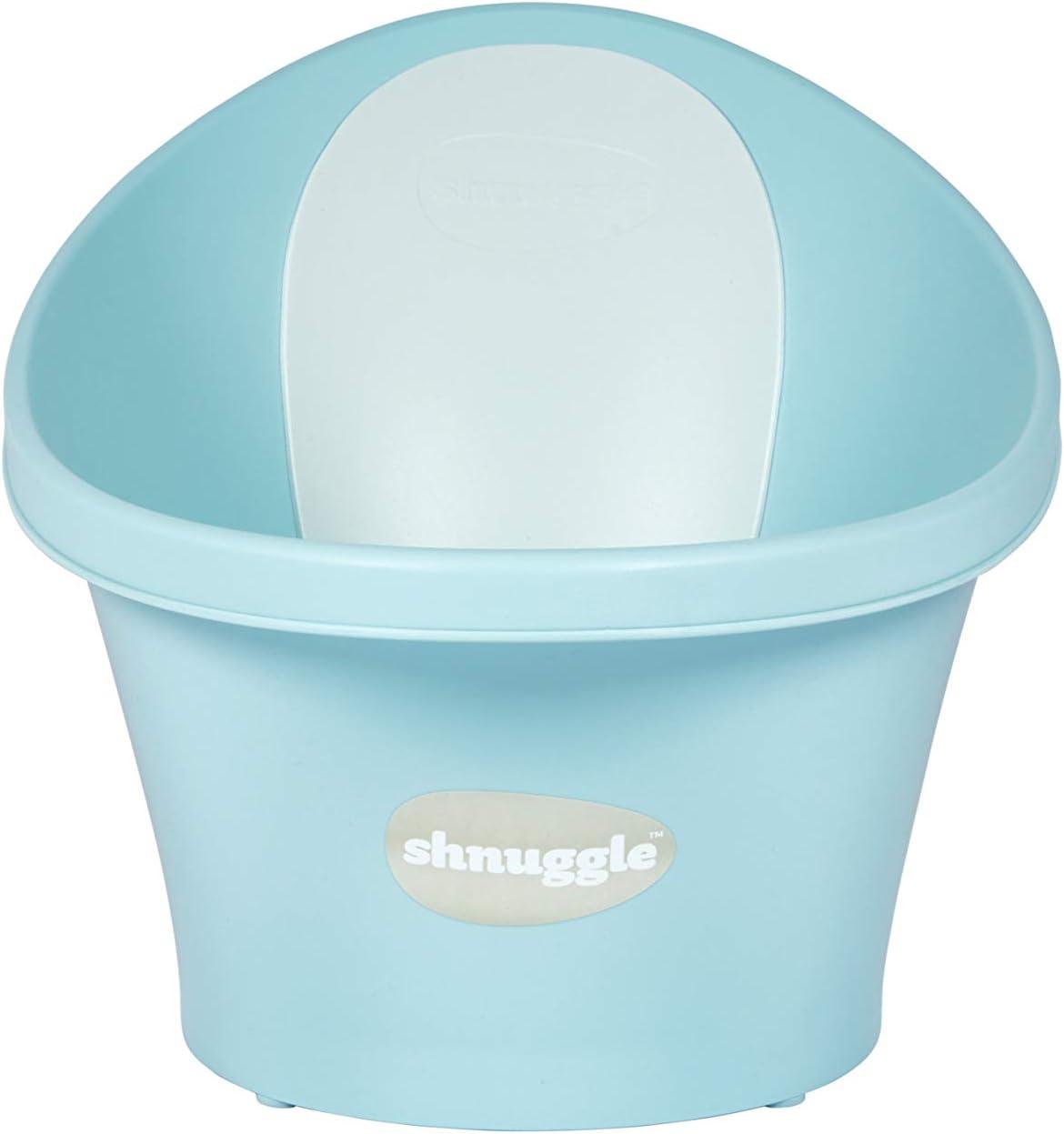 Shnuggle Vaschetta per bagnetto Azzurra con schienale bianco