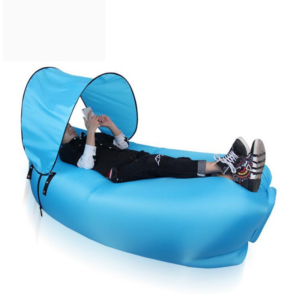TZ Ted Inflatable Lounger Air椅子ソファハンモックポータブルWater Proof anti-air Leaking with Carryバッグ裏庭Lakesideビーチ旅行キャンプピクニックプール音楽祭インドアアウトドア B07CR1JYMB ブルー ブルー