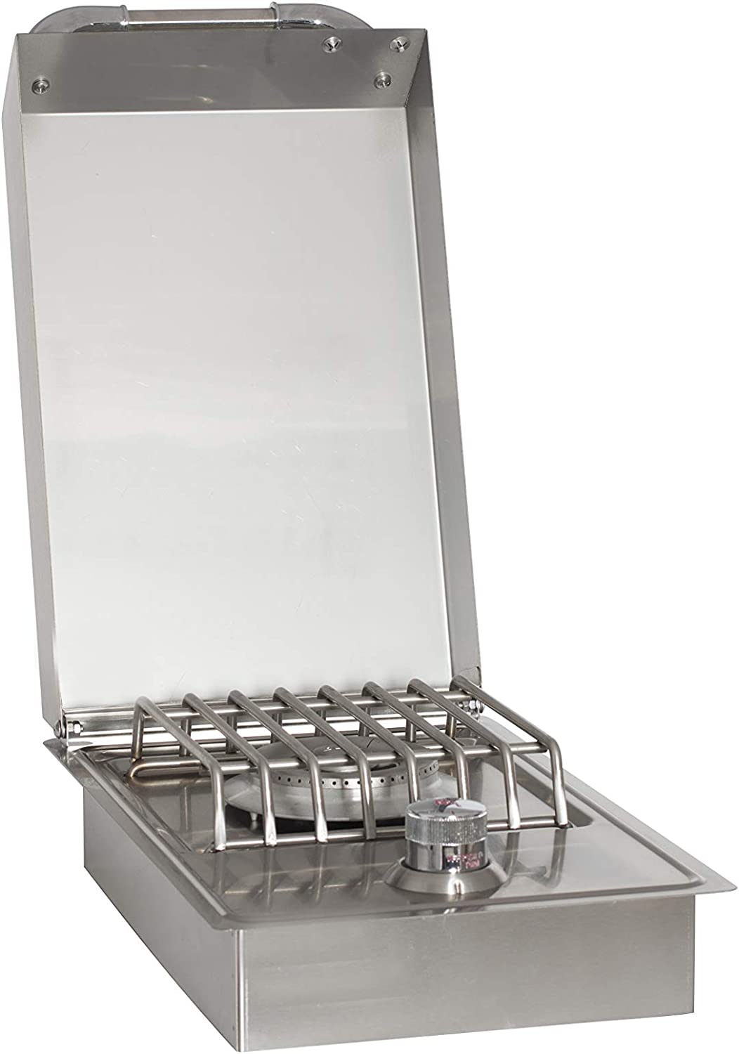 Bull Outdoor Products 60008 Stainless Steel Single Side Burner, Liquid  Propane