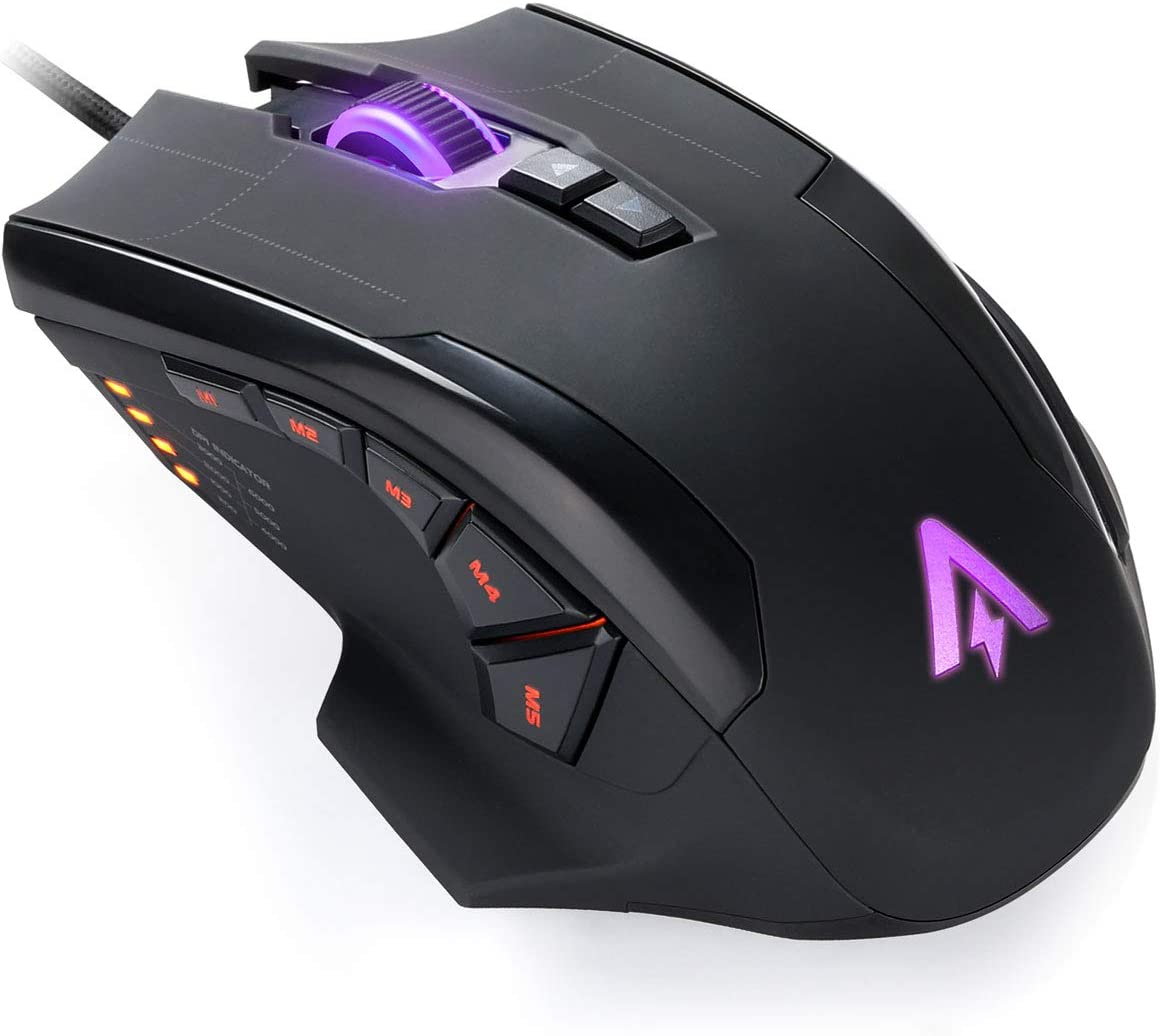 Anker High Precision Programmable Gaming Mouse with 6000 DPI RGB Gamer Desktop Laptop PC Gaming Mouse 1000 Hz Polling Rate 10 Programmable Buttons Ergonomic USB Computer Mouse