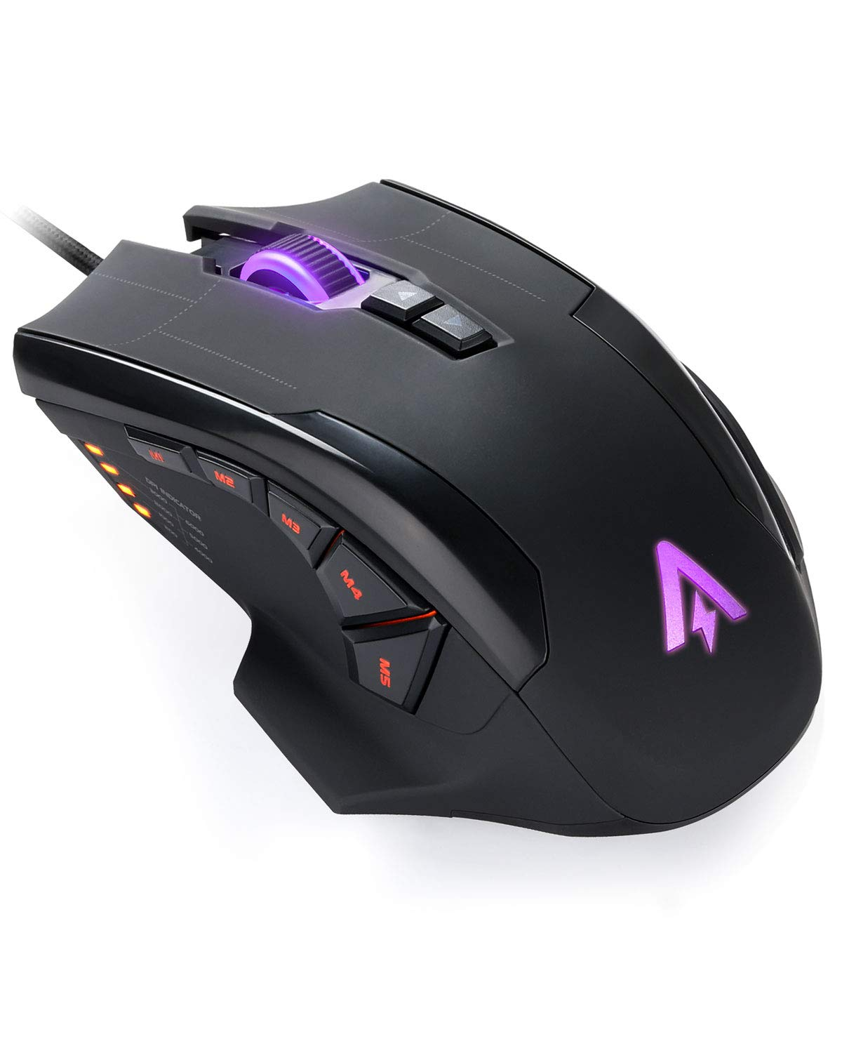 Anker High Precision Programmable Gaming Mouse with 6000 DPI, 1000 Hz Polling Rate, 10 Programmable Buttons, Ergonomic USB Computer Mouse, RGB Gamer Desktop Laptop PC Gaming Mouse