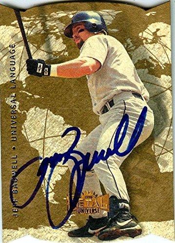 Jeff Bagwell autographed baseball card (Houston Astros, SC) 1998 Fleer Metal Universe #6 - Baseball Slabbed Autographed Cards ()