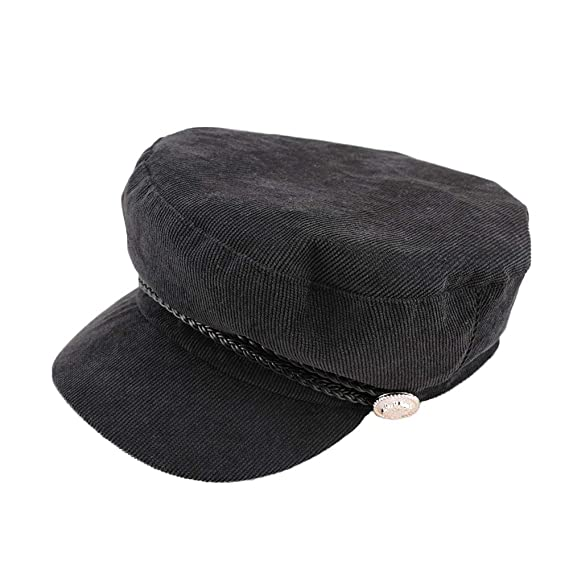 Amazon.com: 1 Pcs Brand Fashion Autumn Winter Vintage Style Newsboy Hats for Women Creative Military Hat: Kitchen & Dining