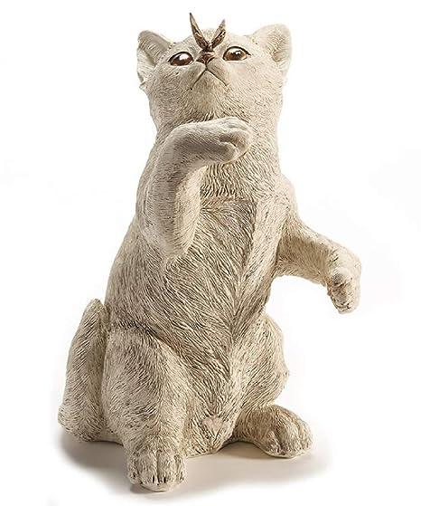 Amazon.com: Giftcraft - Figura decorativa, diseño de gato ...