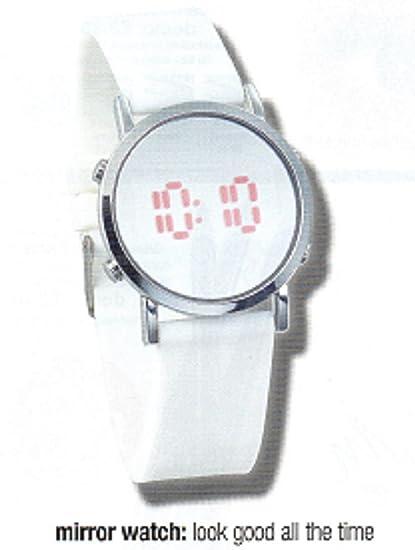 Avon Dexie espejo Digital reloj Ladies Digital reloj con cara de espejo.
