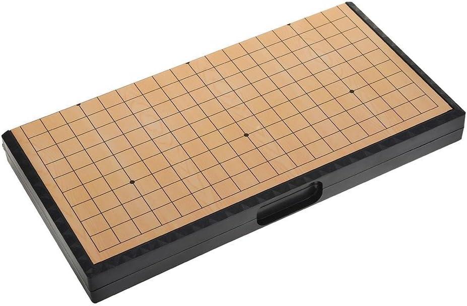 Suchinm Juego de Juego magnético Go, Conveniente Tablero Plegable Weiqi Juegos educativos para Adultos y niños Juguete de Viaje al Aire Libre: Amazon.es: Hogar