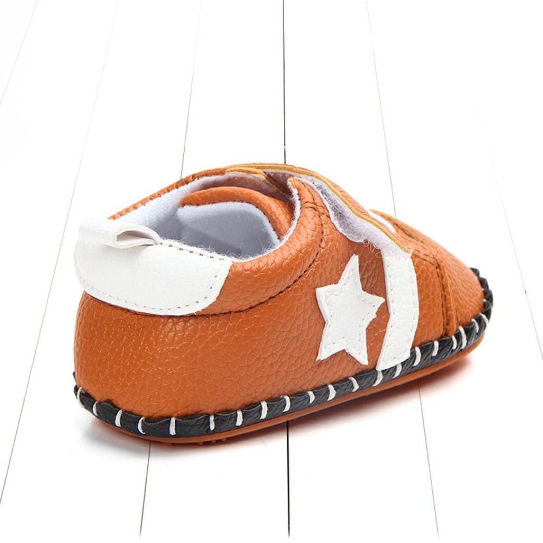2018 Fashion Toddler Baby Boys Girls Star Print Cartoon Anti-Slip Soft Sole Prewalker Casual Shoes