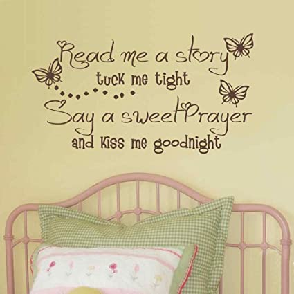 BATTOO Girls Decal Vinyl Lettering Read me a Story Tuck me in Tight ...