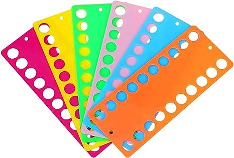 1,2,3,4,5 o 10 plástico 20 agujero hilo organizadores para hilo de bordar #