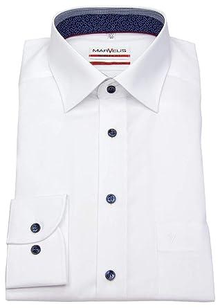 Marvelis - Chemise Business - Col Chemise Classique - Homme - Blanc - 42 19d39e0eaed