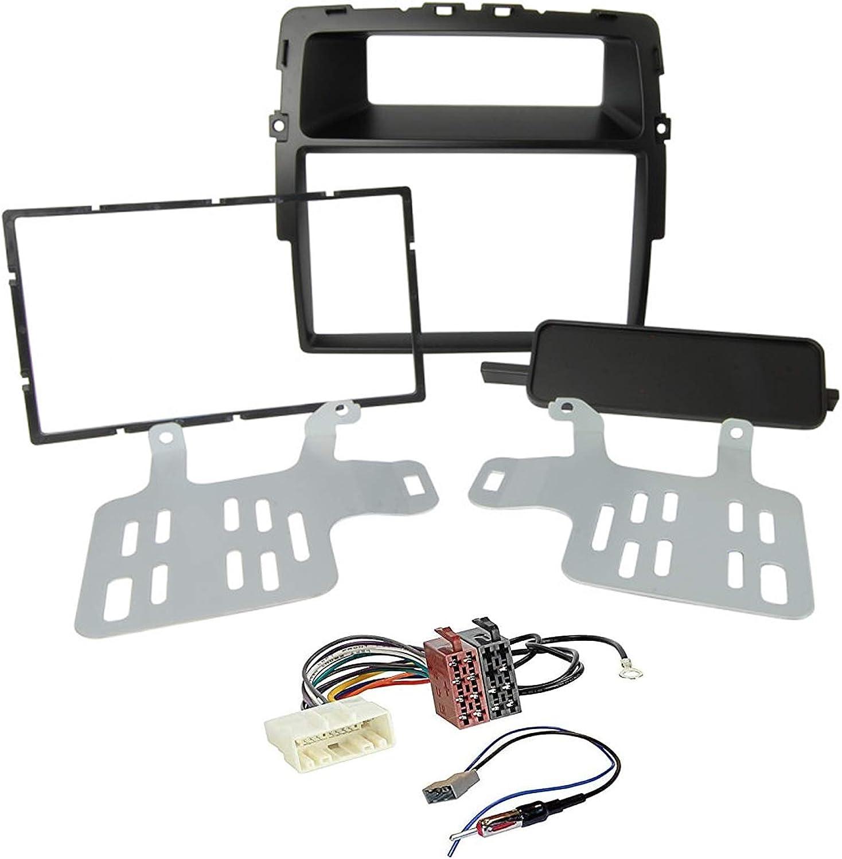 Sound Way 2 Din Radio Blende Einbau Rahmen Adapter Einbauset Kompatibel Mit Nissan Primastar Opel Vivaro Renault Trafic Ii Ka11 463 Auto