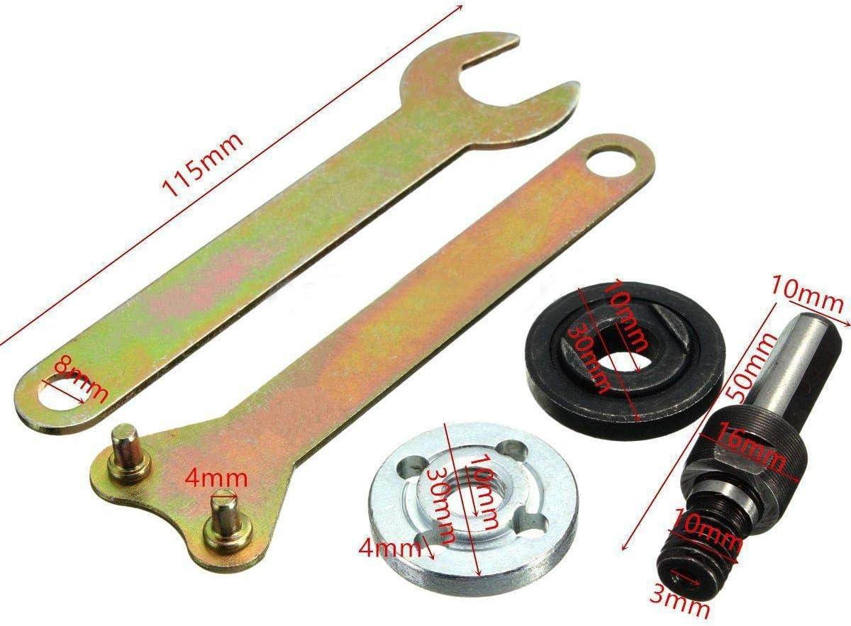SHUGJAN Adattatori Drill durevoli 10mm Mayitr Shank Arbor Adattatore Spina for Grinder Cut Off ruote a disco Usa con tutti i trapani Strumenti di riparazione hardware accessori fai-da