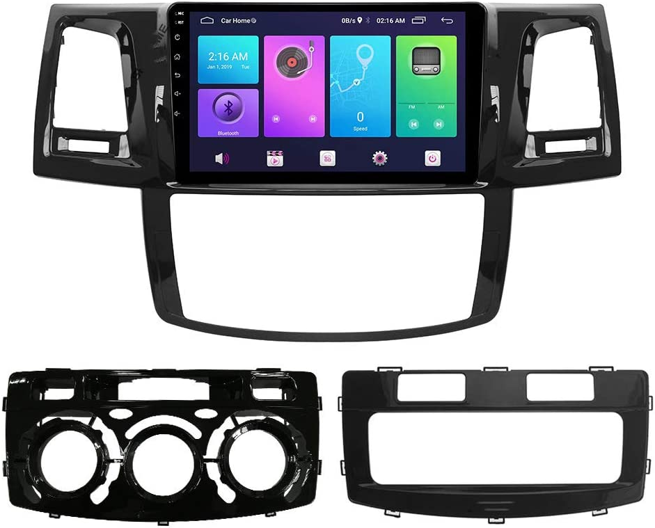 WHL.HH for Toyota FORTUNER HILUX VIGO 2007-2015 Android 9.0 Double Din 9 Inch Car Radio Video Multimedia Player GPS Navigation Stereo Car Head Unit,WiFi:1+16G
