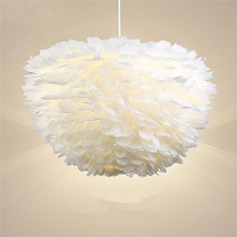 MKJ Feather lampadario personalità creative Nordic Camera da Letto ...