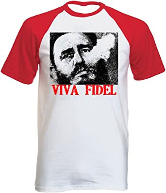 teesquare1st Fidel Castro Viva Tshirt con Manga Corta roja T-Shirt: Amazon.es: Ropa y accesorios