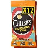 Snack de Queso Crujiente Cheesies, Cheddar. Sin Carbohidratos, Alto en Protínas, Sin Gluten, Vegetariano, Ceto. 12…