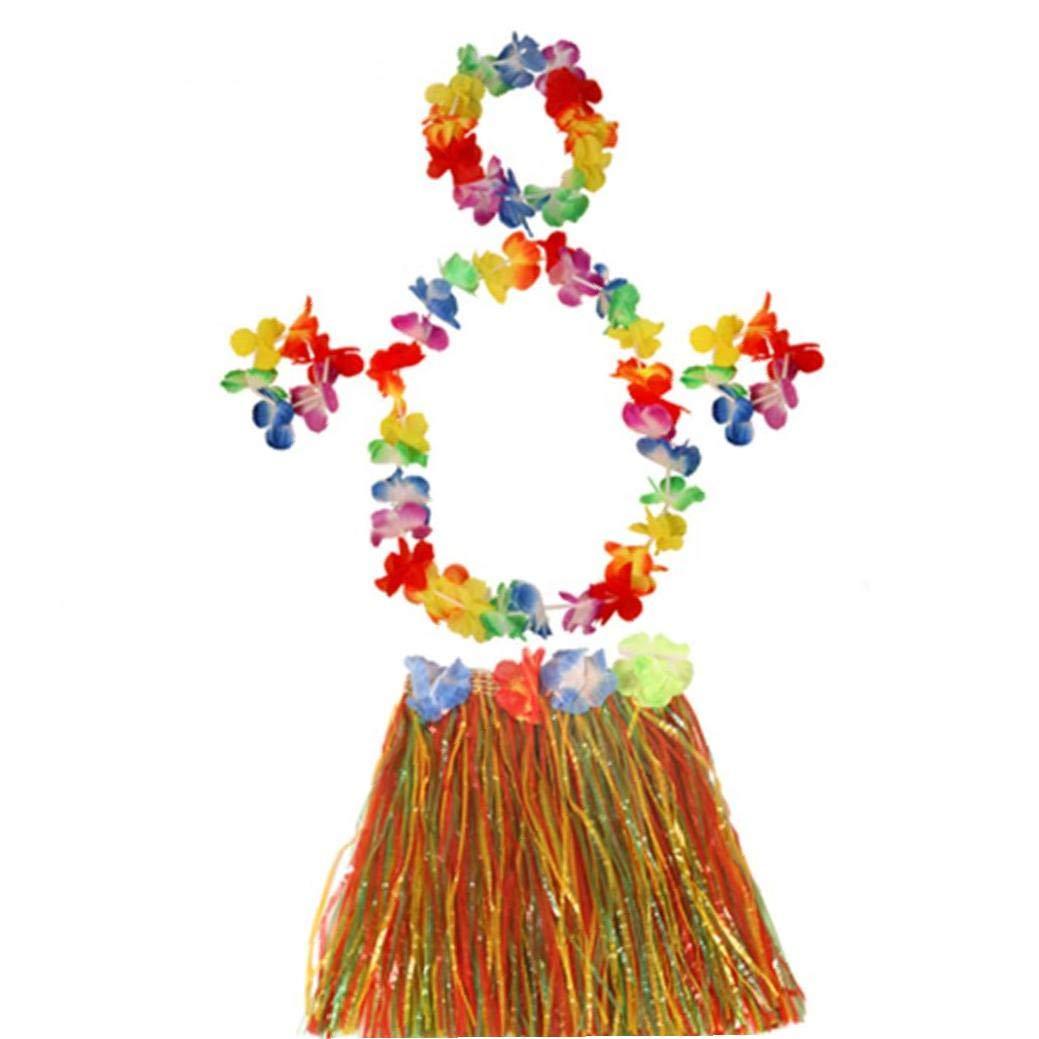 AMOYER 1 Juego De Transmisión De La Falda De Hierba De Hawaii Hula ...